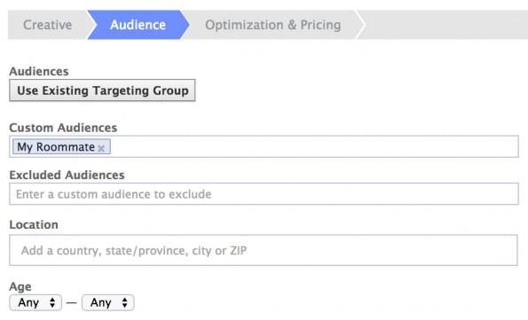 Grundlage für den Streich war eine sehr spezifische Zielgruppe für die Facebook-Ads. (Screenshot: Brian Swichkow)
