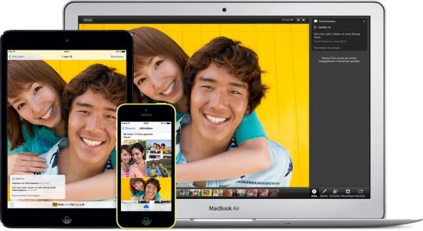 iCloud: Sofern ihr die Funktion nicht deaktiviert, speichert euer iPhone Kopien eurer Bilder in der Cloud. (Grafik: Apple)