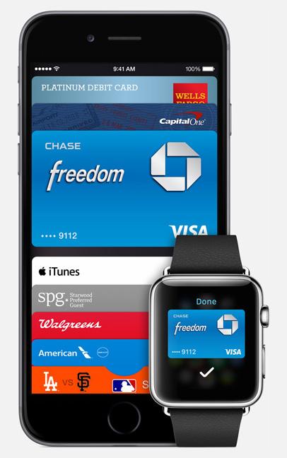 """Apple Pay: Das Verfahren funktioniert nur mit iPhone 6, iPhone 6 Plus und Apple Watch. Älteren Geräten fehlt das sogenannte """"Secure Element"""", ein spezieller Chip auf der Hauptplatine. (Quelle: Apple.com)"""