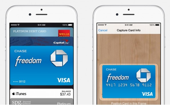 Kreditkarten können auch einfach durch ein Foto zu Apple Pay hinzugefügt werden. (Quelle: Apple.com)