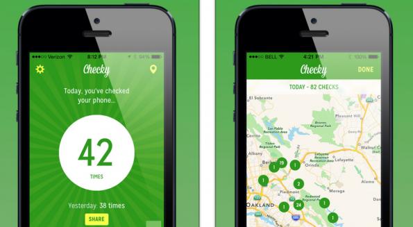 Checky-App will dich vom Smartphone wegholen, indem sie dir eine App empfiehlt. (Screenshot: Checky)