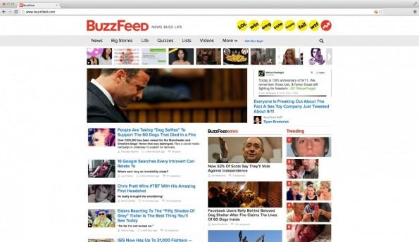 BuzzFeed gilt als einer der Vorreiter im Clickbaiting. (Screenshot: BuzzFeed)