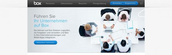 Dropbox-Alternativen: Auch Box ist schon einige Jahre im Geschäft. (Screenshot: Box)