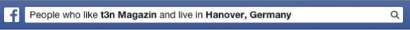 Graph Search: Eine beispielhafte Suchanfrage auf Facebook. (Screenshot: Facebook)