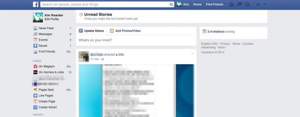 """""""Missed Stories"""": Hier zeigt euch Facebook, welche Beiträge ihr verpasst habt. (Screenshot: Facebook)"""