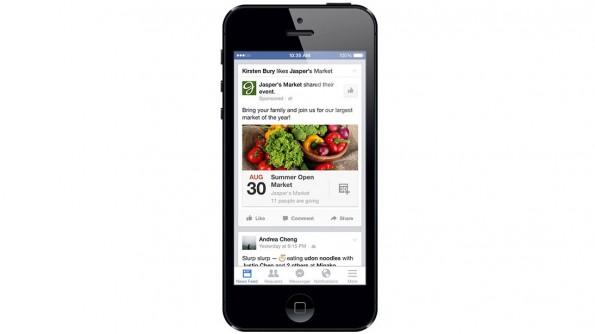 Facebook: So wird Werbung für ein Event auf dem Smartphone aussehen. (Grafik: Facebook)