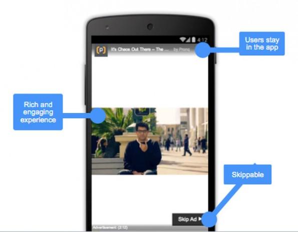 Neue Anzeigenformate: Werbeclips sollen über AdMob bald in allen Apps verfügbar sein. (Grafik: Google)