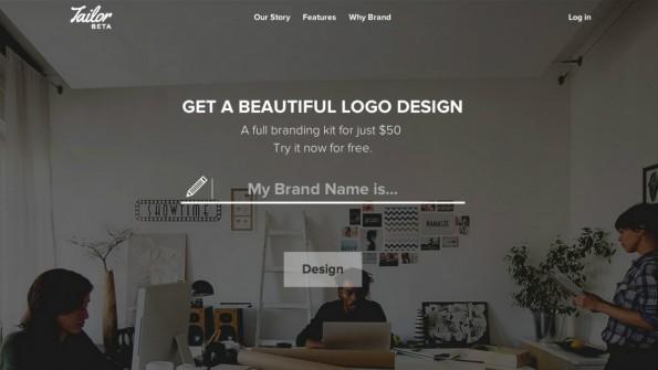Tailor Brands automatisiert das Logo-Design: Tausende Algorithmen erstellen ein den eigenen Werten und Unternehmen entsprechendes Logo. (Screenshot: t3n)