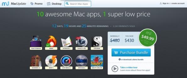 MacUpdate Software-Bundle: Zehn OS-X-Apps zu einem günstigen Preis. (Screenshot: MacUpdate)
