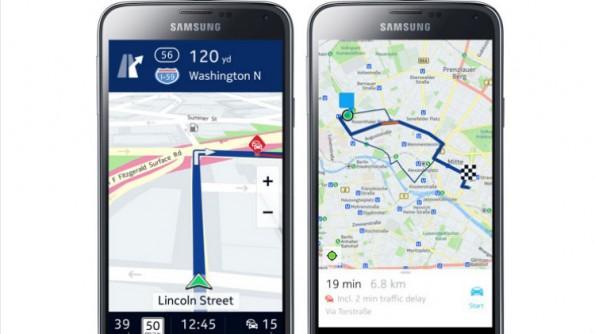 Die Android-Version von Nokia Here Maps ist vorerst nur auf Samsung Galaxy-Geräten erhältlich. (Bild: Nokia)