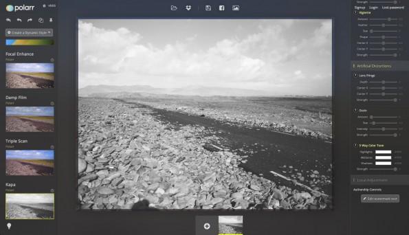 Polarr benötigt einen modernen Browser der WebGL unterstützt. (Screenshot: Polarr)