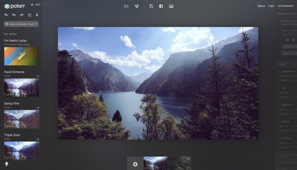 Polarr ermöglicht Bildbearbeitung im Browser. (Screenshot: Polarr)
