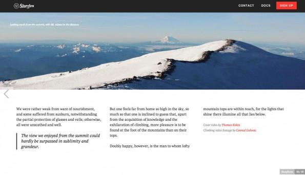 WordPress-Plugin: Mit Storyform erstellte Artikel sehen einfach schick aus. (Screenshot: Storyform)