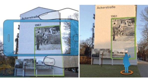Die Timetraveler-App macht Berliner Mauer-Geschichte mit AR-Features erlebbar. (Bild: Metaio)