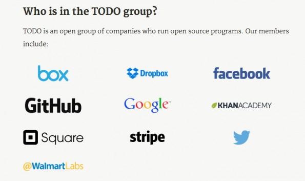 TODO Group: Die Gründungsmitglieder der Gruppe auf einem Blick. (Screenshot: TODO Group)