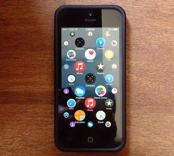 Bedienoberfläche: Konzept der Apple Watch auf dem iPhone (Screenshot: YouTube/Lucas Menge)