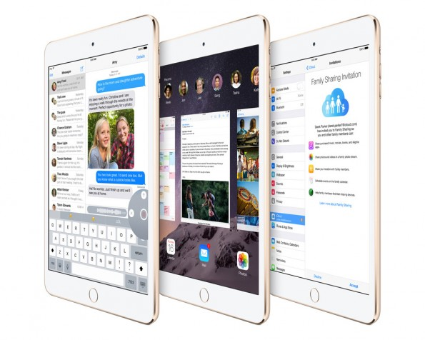 Sowohl das iPad Mini 3 als auch das iPad Air 2 werden mit iOS 8.1 ausgeliefert. (Quelle: Apple)