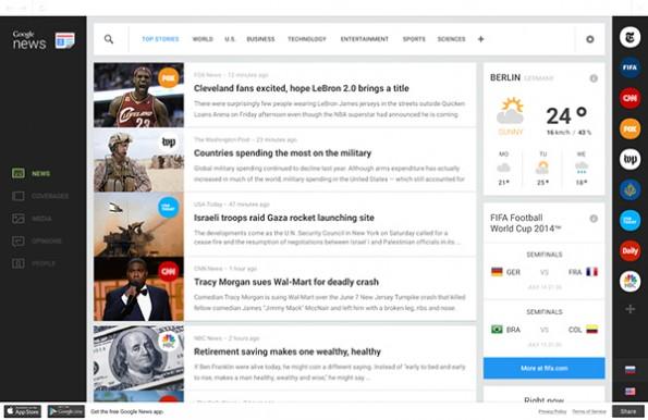 Google-News-Redesign: So stellt George Kvasnikov sich die Homepage vor. (Bild: googlenews.gkvasnikov.com)