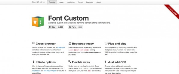 Icon-Font-Generator auf Ruby-Basis. (Screenshot: FontCustom)