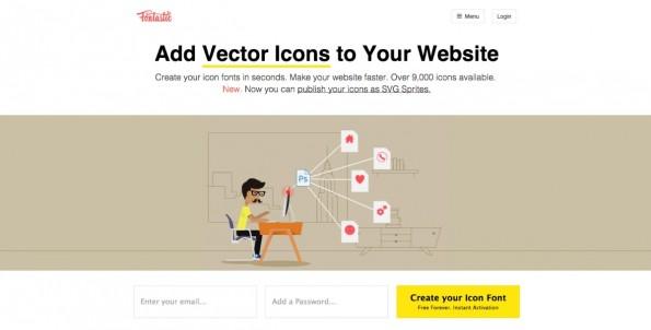 Fontastic will das Leben von Webdesignern nicht nur durch kostenlose Icons, sondern auch durch schnellere Workflows erleichtern. (Screenshot: Fontastic)