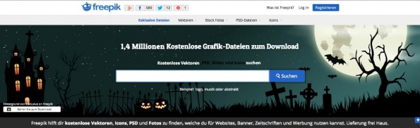 Kostenlose Design-Ressourcen spürt der Icon-Finder Freepik auf. (Screenshot: Freepik)