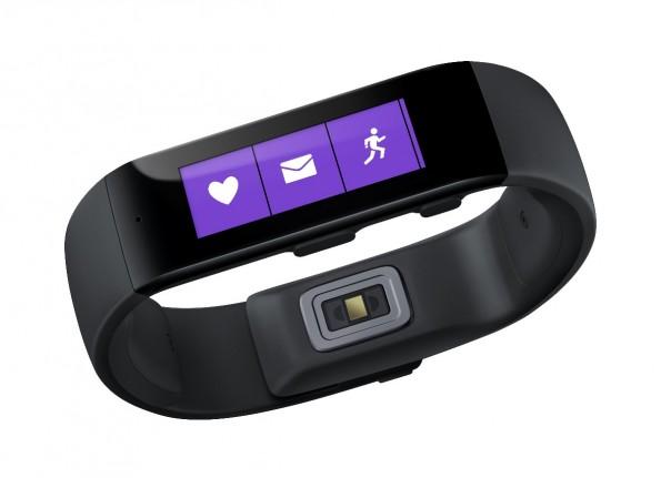 So sieht das Wearable aus dem Hause Microsoft aus. Neben Fitness-Tracker-Funktionen bringt es auch die Möglichkeiten einer Smartwatch mit. (Bild: Microsoft)