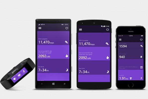 Das Microsoft Band funktioniert neben Windows Phone auch mit Android und iOS. (Bild: Microsoft)