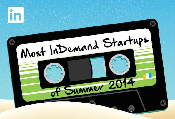 Ranking der bei IT-Spezialisten beliebtesten Startups im Silicon Valley 2014 (Grafik: LinkedIn)
