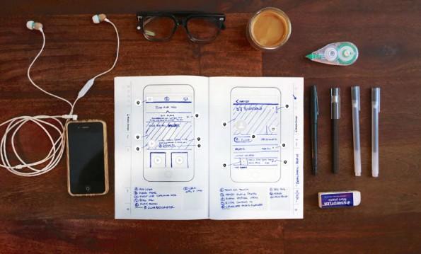 Das Sticker UI Book bietet einen Ort für deine Skizzen und Ideen zum UI-Design. (Foto: Killer, Inc.)