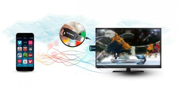 Mit dem Matchstick soll eine offene Chromecast-Alternative den Markt für Streaming-Sticks bereichern. (Bild: Matchstick)