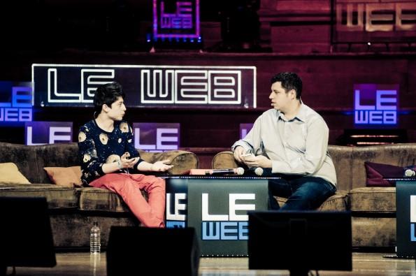 Auf der Web-Konferenz Le Web in Paris: Das Nachwuchstalent ist umtriebig und als Interview-Gast ider Redner auf den wichtigsten Tech-Events der Welt unterwegs. (Foto: Le Web / Flickr)