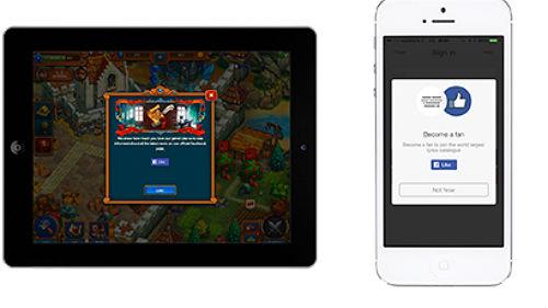 Der Facebook Like-Button kann in Apps an verschiedenen Stellen eingebaut werden. (Bild: Facebook)
