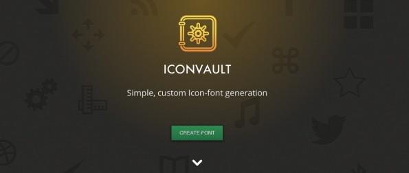 Mit Iconvault lassen sich SVG-Sammlungen in Icon-Fonts umwandeln. (Screenshot: Iconvault)