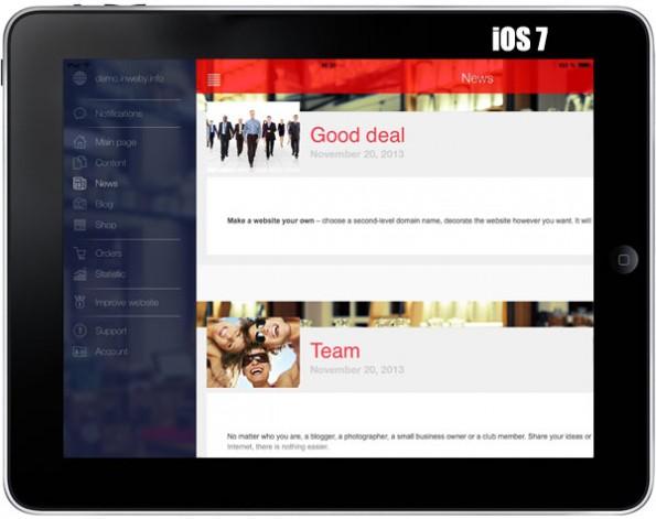 Homepage-Baukästen: inWeby ist vermutlich nicht die beste Wahl für iOS-Nutzer. (Grafik: inWeby)