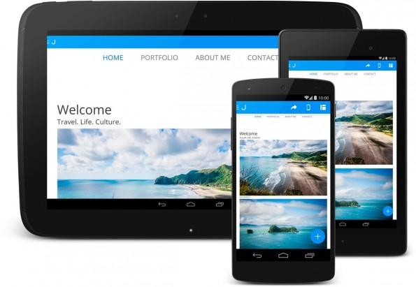 Jimdo bietet ab sofort auch eine App für Android-Nutzer an. (Grafik: Jimdo)