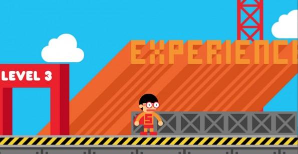 Ein interaktiver Lebenslauf in Form eines Videospiels sorgt garantiert für Aufmerksamkeit. (Screenshot: Robby Leonardi)