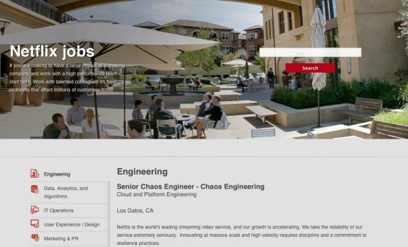 Aktuell sucht Netflix einen Senior Chaos Engineer. (Bild: Netflix)