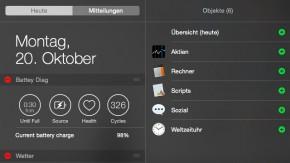 Apps für OS X Yosemite: Diese Programme bieten praktische Widgets für die Mitteilungszentrale