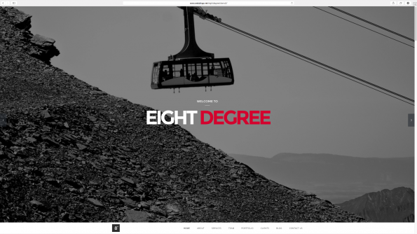 Eight Degree Parallax WordPress Theme