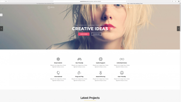 Story: Parallax WordPress Theme.