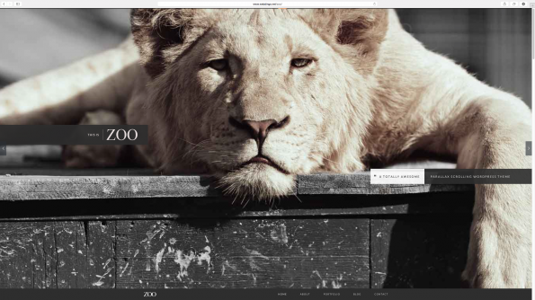 Zoo: Parallax WordPress Theme.
