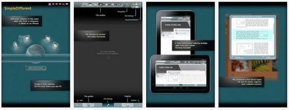 Homepage-Baukästen: SimpleDifferent ist der einzige Anbieter in der Übersicht mit vollwertiger Android-App. (Grafik: SimpleDifferent)