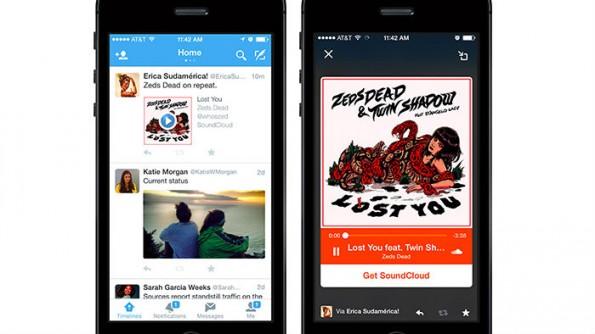Twitter holt sich bei der Audio-Einbettung Hilfe von Soundcloud.