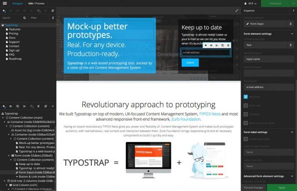 Prototyping-Tool: Die Macher von Typostrap haben großes mit der Software vor. (Screenshot: Typostrap)