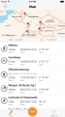 Neues App-Geschäftsmodell: Trails für iOS.