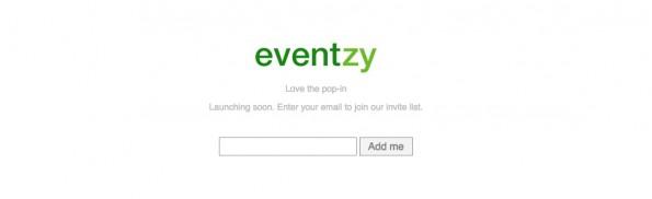 Eventzy, das neueste Startup von Jordan Casey, soll Anfang 2015 launchen. (Screenshot: eventzy.com)