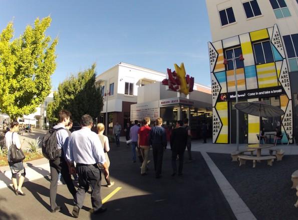 Zu Besuch bei Facebook: Ein Rundgang auf dem Campus, aber wenig geteiltes Wissen. (Bild: Andreas Weck)