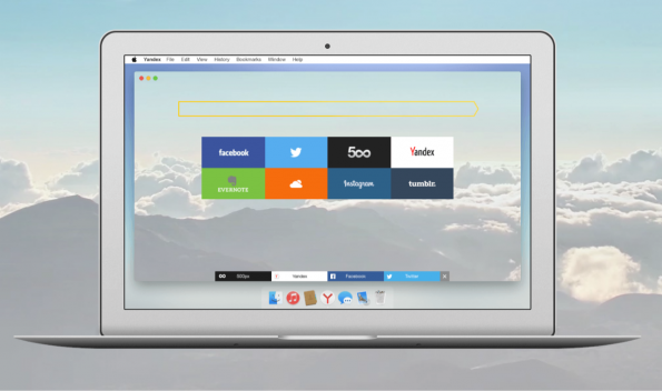 Neues Design: Der Yandex-Browser will transparent sein. (Screenshot: Yandex)