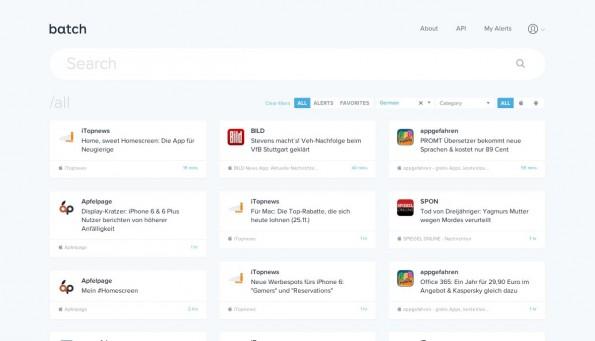 Batch Insights soll euch über Promo-Aktion informieren, die eure Konkurrenten per Benachrichtigung an die Nutzer ihrer App schicken. (Screenshot: Batch)