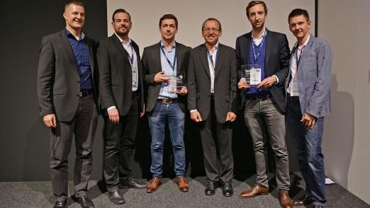 """Für diese zwei """"Best in eCommerce""""-Projekte hat sich das Publikum am meisten begeistert: Händler-Integration bei Joy Sportswear und ePayment-Integration bei Germanwings. (Foto: Channelpartner)"""